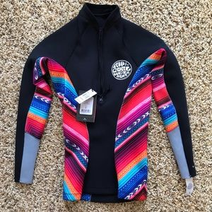 NWT Rip Curl long sleeve wetsuit top